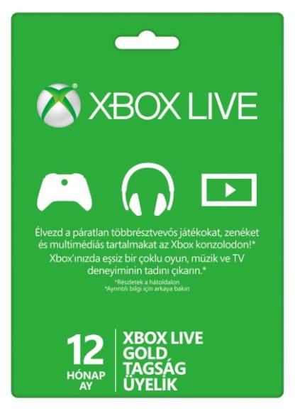 12 hónapos Xbox LIVE Gold előfizetés